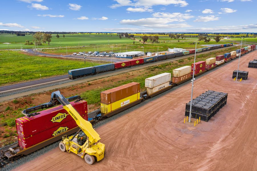 Parkes freight & logistics, containers, freight train
