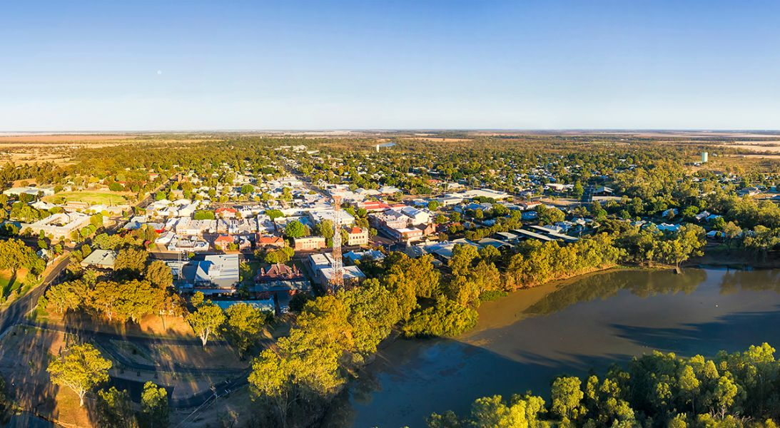 Aerial photo of Narrabri, NSW
